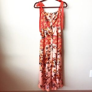 Free People cascade maxi dress